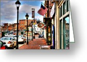 Stores Greeting Cards - Welcome to Fells Point Greeting Card by Debbi Granruth