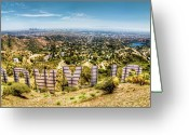 California Greeting Cards - Welcome to Hollywood Greeting Card by Natasha Bishop