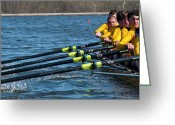 Rowing Crew Greeting Cards - Welcome To Intensity Greeting Card by Tim  Telep