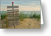 Ocean Beach Greeting Cards - Welcome to Manasquan Greeting Card by Robert Pilkington