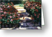 Garden Pathway Greeting Cards - Welcome to My Garden Greeting Card by David Lloyd Glover