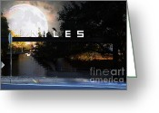 Fremont Street Greeting Cards - Welcome To Niles California . Gateway To The Stars . 7D12755 Greeting Card by Wingsdomain Art and Photography