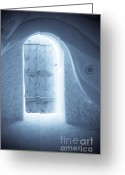 Famous Landmark Greeting Cards - Welcome to the Ice Hotel Greeting Card by Sophie Vigneault