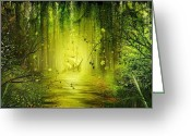 Path Greeting Cards - Welcome to the Jungle Greeting Card by Svetlana Sewell