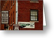 The Mother Road Greeting Cards - Welcome to the Main Street of America Greeting Card by Susanne Van Hulst