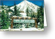 "\""colorado Resort\\\"" Greeting Cards - Welcome to the Mountain Greeting Card by Barbara Jewell"