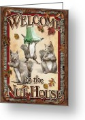 Nut Greeting Cards - Welcome To The Nut House Greeting Card by JQ Licensing