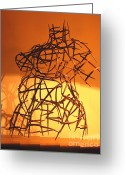 Artist Sculpture Greeting Cards - Welded Torso Greeting Card by Tommy  Urbans
