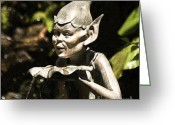 Hob Greeting Cards - Well Gremlin Greeting Card by Heiko Koehrer-Wagner