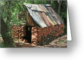 Shack Greeting Cards - Well Ventilated Greeting Card by Gary Kaylor