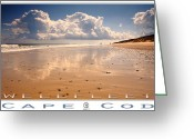 Clouds Posters Greeting Cards - Wellfleet Greeting Card by Dapixara Art