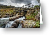 Farm Digital Art Greeting Cards - Welsh Bridge Greeting Card by Adrian Evans
