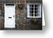 Small House Greeting Cards - Welsh cottage detail Greeting Card by Jane Rix