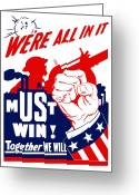 Military Production Greeting Cards - Were All In It Greeting Card by War Is Hell Store