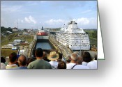 Cruise Ships Greeting Cards - Were Next Greeting Card by Jon Berghoff