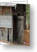 Amish Farms Greeting Cards - Were You Born In A Barn Greeting Card by Lydia Warner Miller