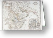 Antique Map Digital Art Greeting Cards - West Africa And Arabia Greeting Card by Fototeca Storica Nazionale