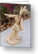 Clay Ceramics Greeting Cards - West Coast Dancer Greeting Card by Christine Belt