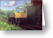 Johnny Trippick Greeting Cards - West Highland Line Greeting Card by Johnny Trippick