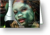 West Indian Greeting Cards - West Indian Day Parade Brooklyn NY Greeting Card by Mark Gilman