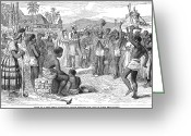 1833 Greeting Cards - West Indies: Emancipation Greeting Card by Granger