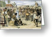 1833 Greeting Cards - West Indies: Slavery, 1833 Greeting Card by Granger