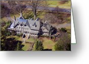 Chestnut Hill Wyndmoor Blue Bell Aerial Photographs Greeting Cards - West Moreland Avenue Chestnut Hill Philadelphia Greeting Card by Duncan Pearson