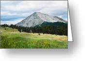 Spanish Peaks Greeting Cards - West Spanish Peak in Summer Greeting Card by Joshua Martin