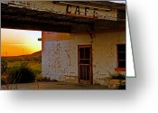 Brian Kerls Greeting Cards - West Texas Cafe Greeting Card by Brian Kerls