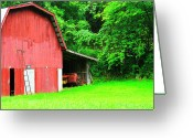 Wv Greeting Cards - West Virginia Barn and Baler Greeting Card by Thomas R Fletcher