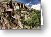 Old Mines Greeting Cards - West Willow Creek Mine Greeting Card by Lana Trussell