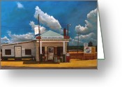 Gas Stations Greeting Cards - Westbrook Country Store Greeting Card by Doug Strickland