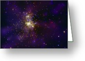 H Ii Regions Greeting Cards - Westerlund 2, A Young Star Cluster Greeting Card by Stocktrek Images