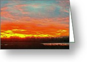 Gloaming Greeting Cards - Western aglow Greeting Card by Forrest Ray