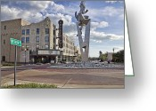County Jail Greeting Cards - Western Ave Muskegon MI Greeting Card by Joe Gee