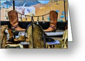 Western Clothing Greeting Cards - Western Gear Greeting Card by Kenny Francis