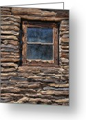 Brown Digital Art Greeting Cards - Western Window Greeting Card by Kelley King