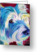 West Highland White Terrier Greeting Cards - Westie - That Look Greeting Card by Alicia VanNoy Call