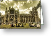 Coronation Greeting Cards - Westminster Abbey Greeting Card by Rob Hawkins