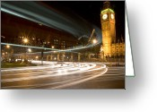 Long Street Photo Greeting Cards - Westminster Lights Greeting Card by Copyright Michael Spry