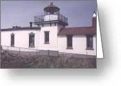 Ken Sjodin Greeting Cards - Westpoint Lighthouse1 Greeting Card by Ken  Sjodin