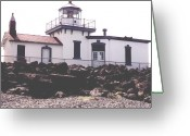 Ken Sjodin Greeting Cards - Westpoint Lighthouse2 Greeting Card by Ken  Sjodin