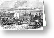 Great Plains Greeting Cards - Westward Expansion, 1858 Greeting Card by Granger