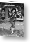 Full Skirt Photo Greeting Cards - Wet Feet Greeting Card by Fpg