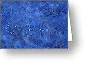 Abstract Greeting Cards - Wet Greeting Card by James W Johnson