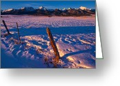 Fault Block Greeting Cards - Wet Mountain Winter Greeting Card by Paul Gana