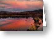 Bob Berwyn Greeting Cards - Wetlands Sunset Greeting Card by Bob Berwyn
