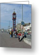 Seaside Greeting Cards - Weymouth Esplanade Greeting Card by Rod Johnson