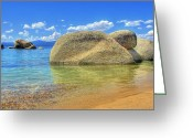 Beachy Greeting Cards - Whale Beach Lake Tahoe Greeting Card by Brad Scott