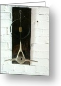 Kinetic Sculpture Greeting Cards - Whale Bone and Wheel Rim Greeting Card by Ber Lazarus